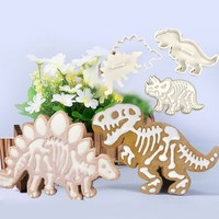 6Pcs Set Dinosaur Shape Kids Birthday Cake Decorating Tool Silicone Mold DIY Cookie Cutter Stencil Confectionery