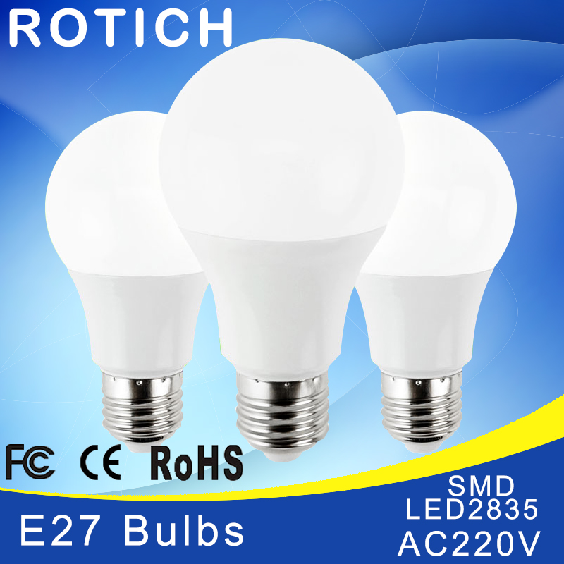 LED Bulb Lamp E27 1W 3W 5W 7W 9W 12W 15W 220V LED Lampada Ampoule Bombilla High Brightness LED Smart IC Light SMD2835