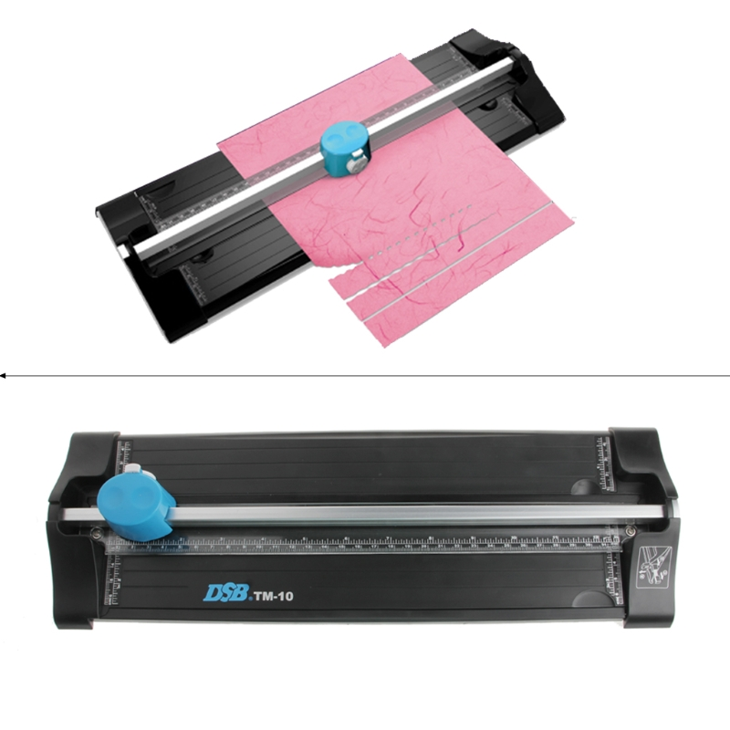 3-In-1 Paper Shredder Multifunctional A4 Paper Photo Card Craft Cutter Cutting Trimmer with Ruler ...