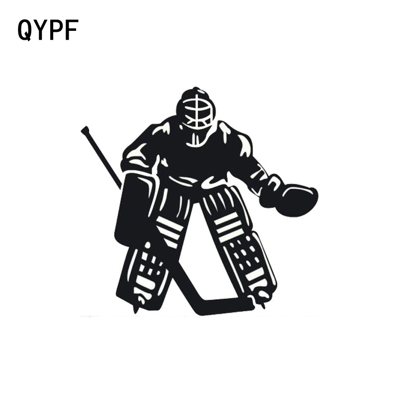 QYPF 11.8cm*11.3cm Personality Ice Hockey Sports Stylish Car Styling Vinyl Car Stickers S2-0434