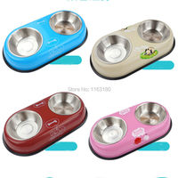 12 Pieces Lot Pet Dog Cat Puppy Stainless Steel Travel Feeder Water Dish Bowls Pet Accessories