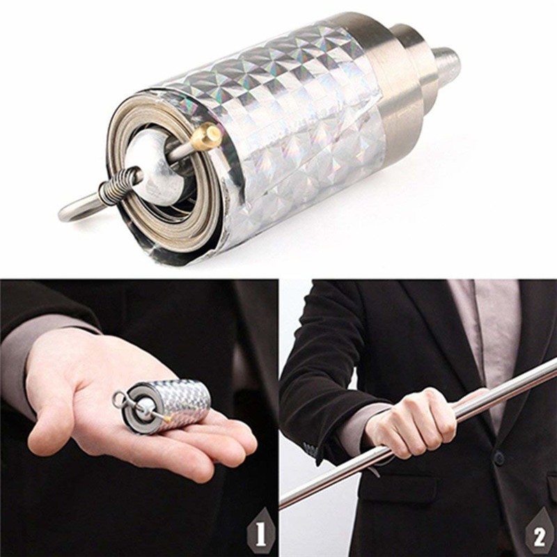 1pc Length Appearing Cane Silver Cudgel Metal Magic Tricks For Professional Magician Stage Street Close Up Illusion