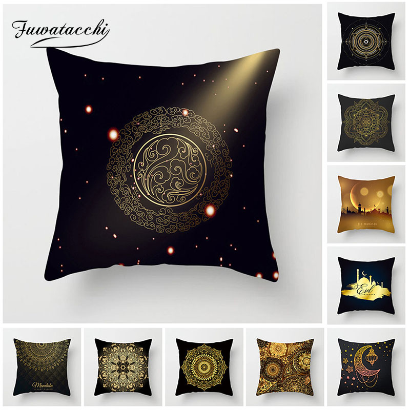 Generous Fuwatacchi Classical Mandala Style Cushion Cover Geometric Flower Moon Pillow Case Home Decorative Pillows Cover For Sofa Car Harmonious Colors Home & Garden