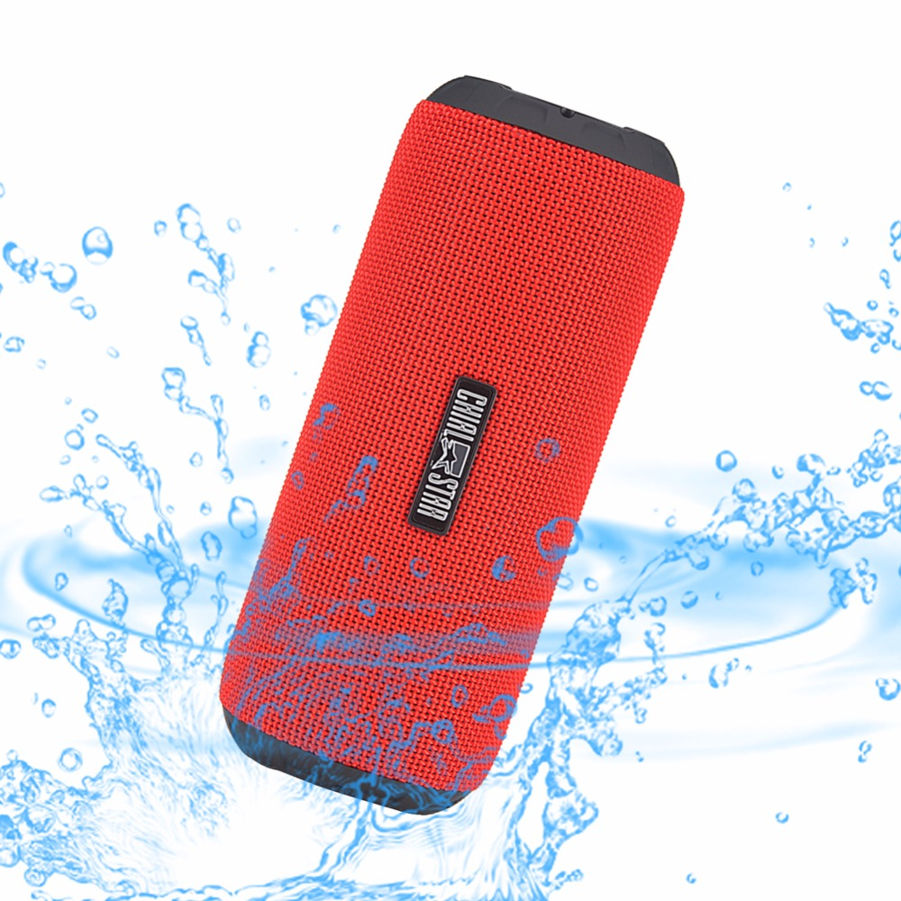 Portable Wireless Speaker Waterproof IPX6 Outdoor Bluetooth Speakers 12W Fabric Covering Cycling Sports Music Player Red