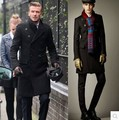 New Brand bakham Long trench coat wool coat Winter peacoat Men's Dust Coat mens clothing overcoat men's coats