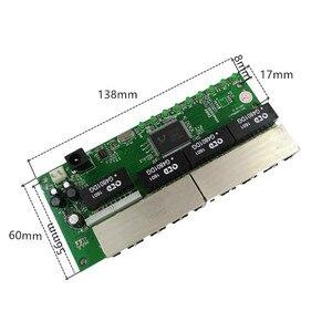 Image 2 - OEM PBC 8 Port Gigabit Ethernet 8 portowy przełącznik spełnione 8 pin way nagłówek 10/100/1000 m centrum 8way power pin płytki Pcb OEM schroef gat