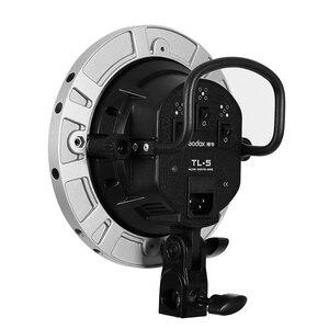 Image 4 - Godox Photo Studio TL 5 5in1 E27 gniazdo Tricolor światła żarówki głowica reflektora wielu uchwyt do kamery oświetlenie stock