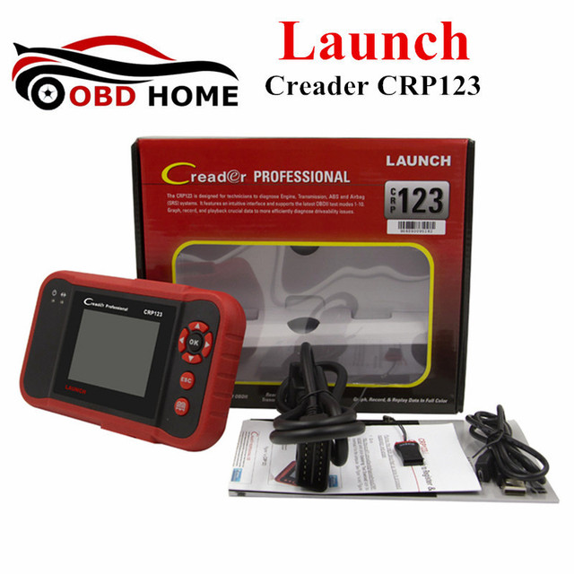 Flash Promo Professional Scanner Auto Code Reader Launch Creader CRP 123 Launch CRP123 ABS SRS Transmission and Engine Update Via Internet