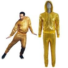 Cosplay Sing Golden Pig Bob Costume Man Hoodie Suits Performance Wear Costumes Fancy Dress Halloween Uniform