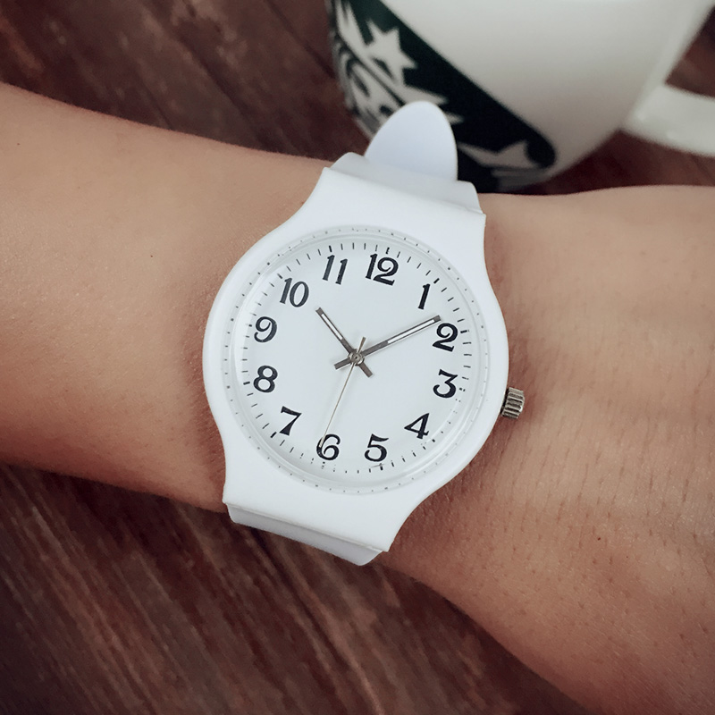 Luxury Simple Lover Couple Quartz Rubber Casual Fashion Watches Student Young Ladies Watch Relogio Feminino Diamond Watch Dw Mk
