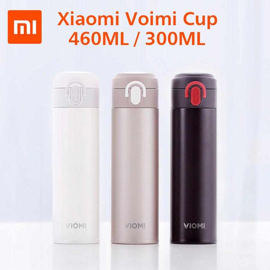 Termo de vacío portátil Xiaomi Mijia VIOMI 460 ml/300 ml Material de aleación ligera 24 horas termos de una sola mano