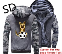Dropshipping 3D Hoodies Men Funny German Shepherd Playing Cartoon Sweatshirt Men winter jacket Thicken coats moletom Dog Lover