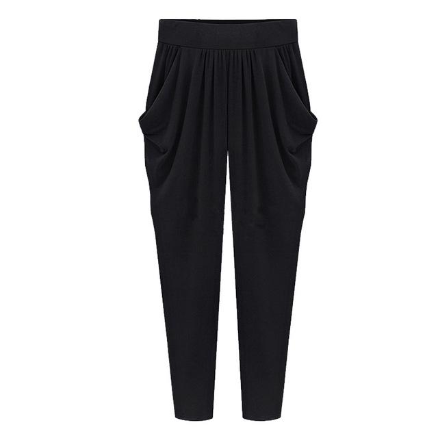 Summer Womens Harem Pants High Waist Loose Straight Ankle-length Pants Comfortable Casual Pants Large Size 8XL OL Pants 2009