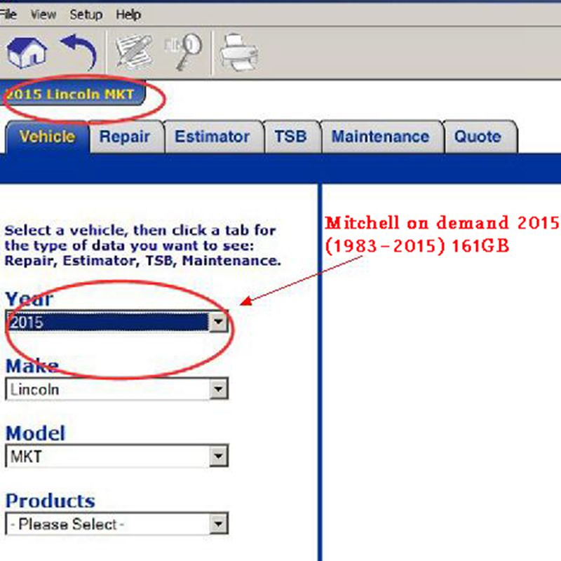 Auto repair Software Mitchell ondemand5 software 2015V with manager plus heavy truck 6in1 320gb hdd hard disk car repair data in Software from Automobiles Motorcycles