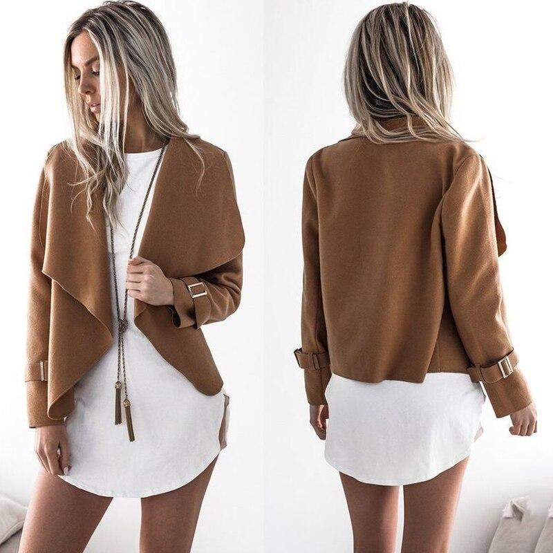 Autumn Hot Sale Female Basic Jacket Bomber Jacket 2018 Fashion Long Sleeve Solid Color Short Coats Women Casual Jacket Coat