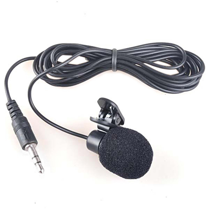 Mini 3.5mm Microfone Hands Free Lavalier Lapel Microphone Wired Clip For Computer Pc Iphone Smartphone Micro Cravate Mikrofon