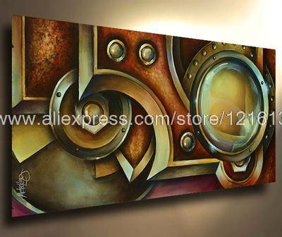 Nice Office Background High Quality Free Shipping Wall Decoration Art Steam Punk  Painting Modern Art Contemporary Decor