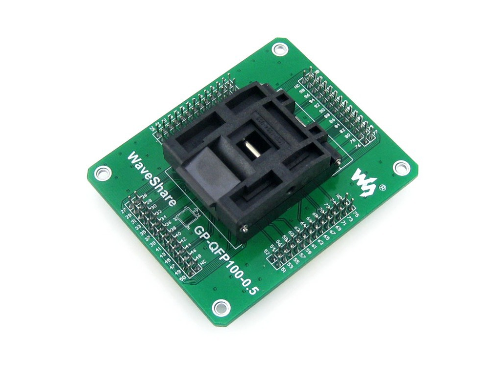 где купить QFP100 LQFP100 TQFP100 Adapter Yamaichi IC51-1004-809 IC Test Socket Programming Adapter 0.5mm Pitch дешево