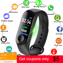 M3 Smart Wristband Watches Sport Fitness Watch Color-screen