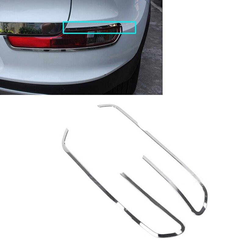 JEAZEA ABS Chrome 2pcs Rear Fog Light Lamp Cover Trim For Kia Sportage R 2015 Car Accessories car auto accessories rear trunk molding lid cover trim rear trunk trim for nissan sunny versa 2011 abs chrome 1pc per set