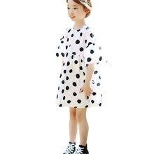 3871839dbb Corea del estilo muchacha del verano adolescentes niños polka dot algodón lindo  vestidos grandes muchachas moda princesa suelta .