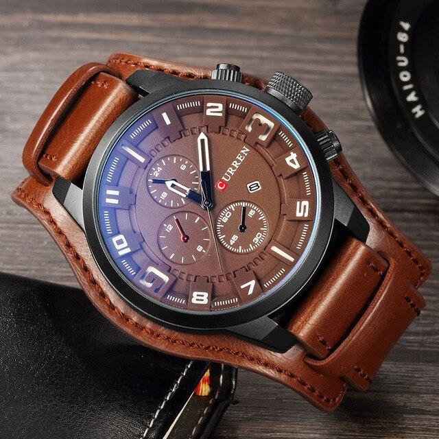 Original CURREN Top Brand Men Sports Waterproof Quartz Watch Military Luxury Calendar Wristwatches relogio masculino 8225