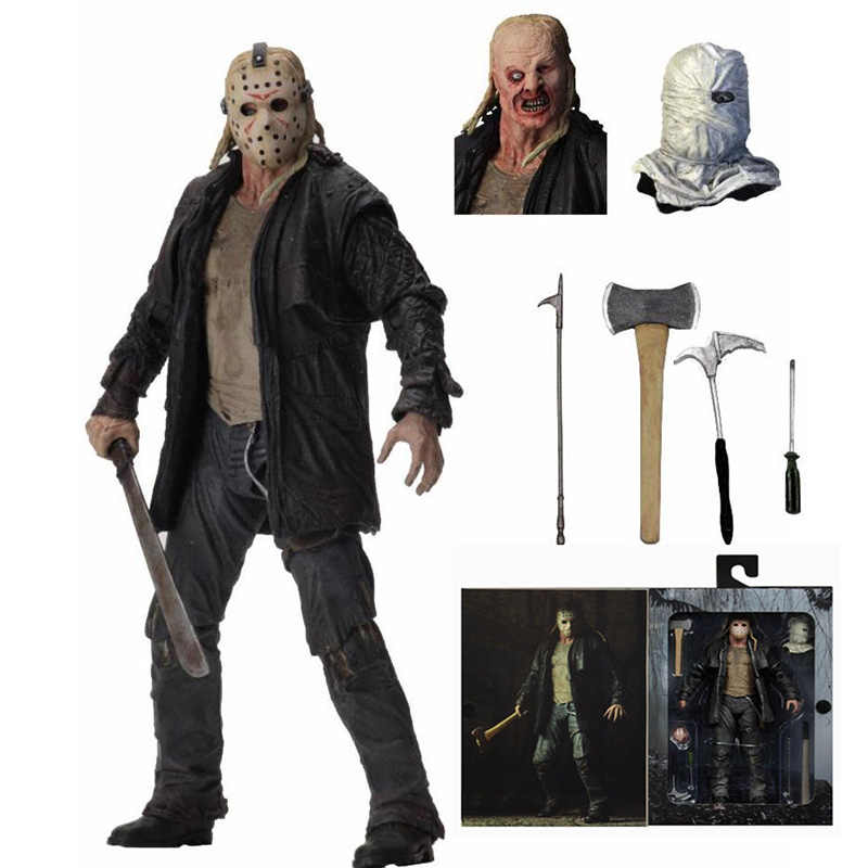 NECA Deluxe Edition Friday the 13th Action Figure Ultimate Jason 2009 Remake VoorheesToy Action Figure Model Speelgoed Pop Gift