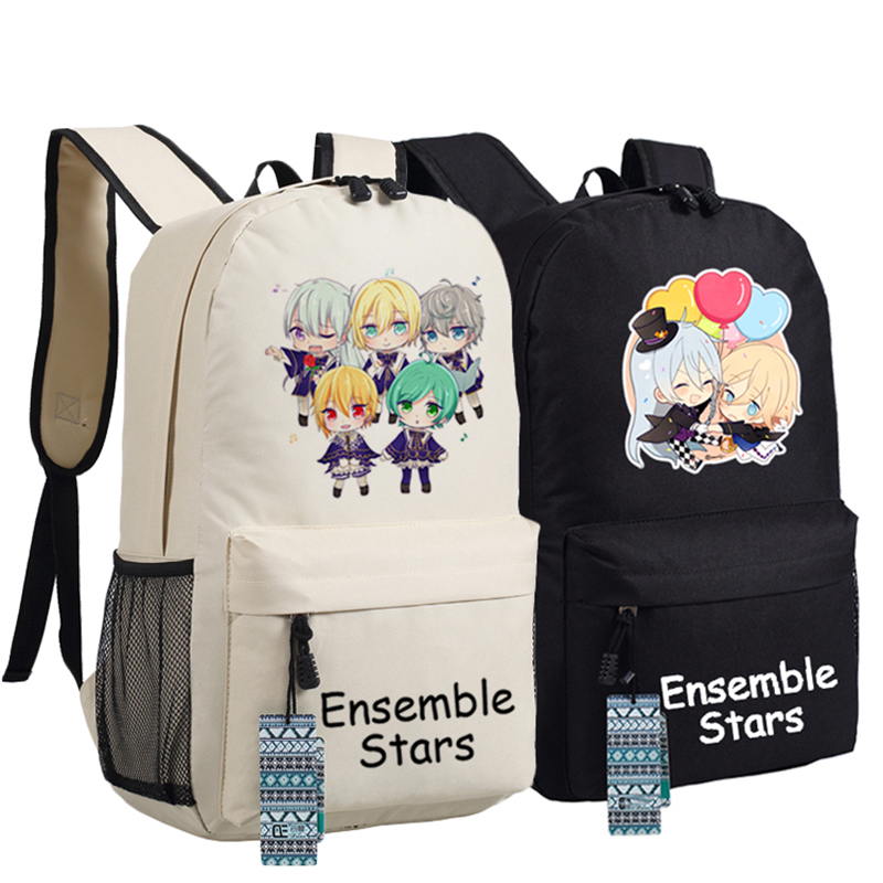 Ensemble Stars Oxford Printing Backpack Unisex Students School Backpacks for Teenage Laptop Bag Rucksack Bagpack