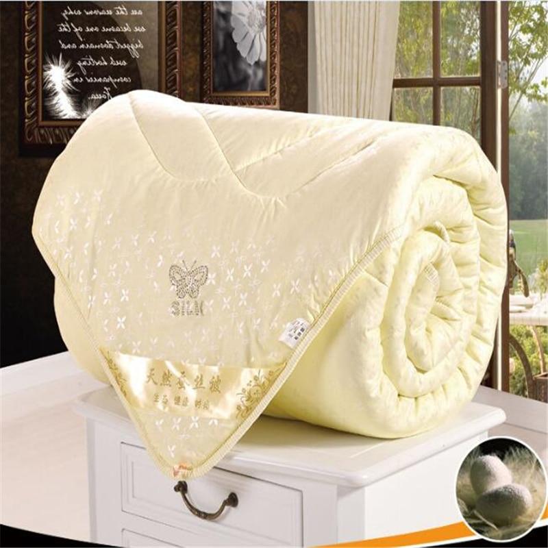silk comforters butterfly quilt pink beige duvet super king size down 15kgs blanket quilting silk
