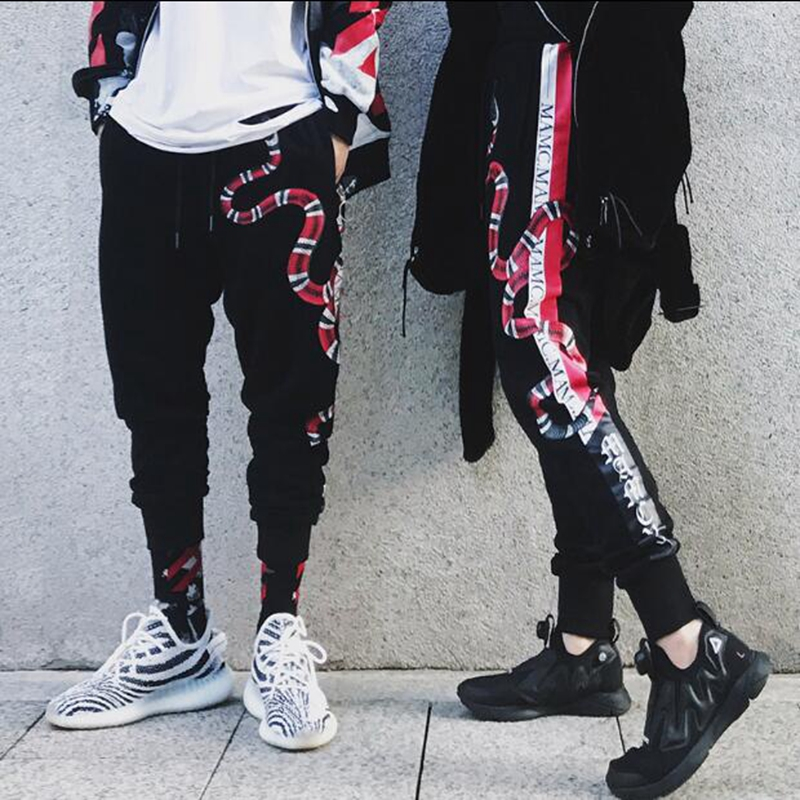 NAGRI Mens Joggers Sweatpants 3d Print Snake Animal Fashion Fitness Bodybuilding Justin Bieber Streetwear Casual Pants S--XXL