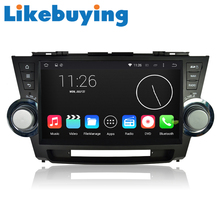 Likebuying 1024*600  Car 2 Din  QUAD CORE 16G DVD GPS Radio Stereo Navigator Android 4.4.4 for Toyota Highlander 2011-2014