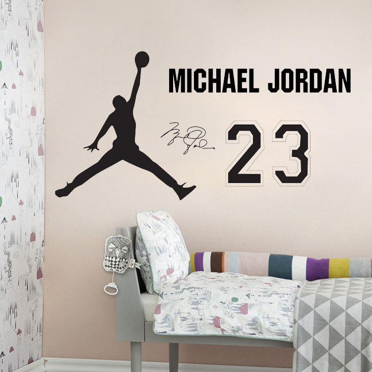 Hot Art Design Michael Jordan Basketball Wall Stickers MJ Basketball Star Decals home decor living room bedroom