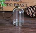 10sets/lot 38mm opening 25mm clear tube glass globe pendant with antique bronze finding