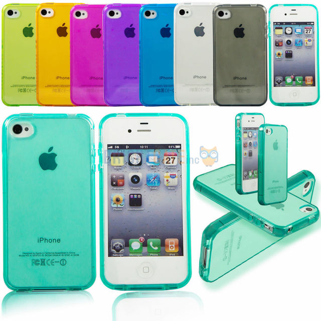 wholesale dealer 7be4c df0cf US $1.28 |Transparent Ultra thin Colorful Case For iphone SE 5 5s Fundas  CLEAR JELLY TPU Gel Soft Case Cover For iPhone SE 4 4S 4G on Aliexpress.com  | ...