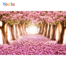 Yeele Wonderland Romantic Flowers Road Personalized Pink Baby Photographic Backdrops Photography Backgrounds For Photo Studio blair mcdowell romantic road