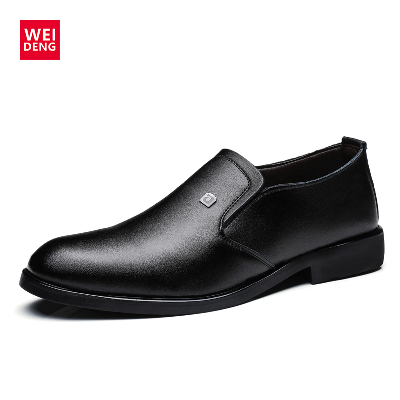 Doux Chaussures Weideng Hommes Appartements D'affaires Oxford zong En Bottes Zip Printemps Hei Casual Véritable Berathable Cuir Qualité Mode Haute wqqgx714I