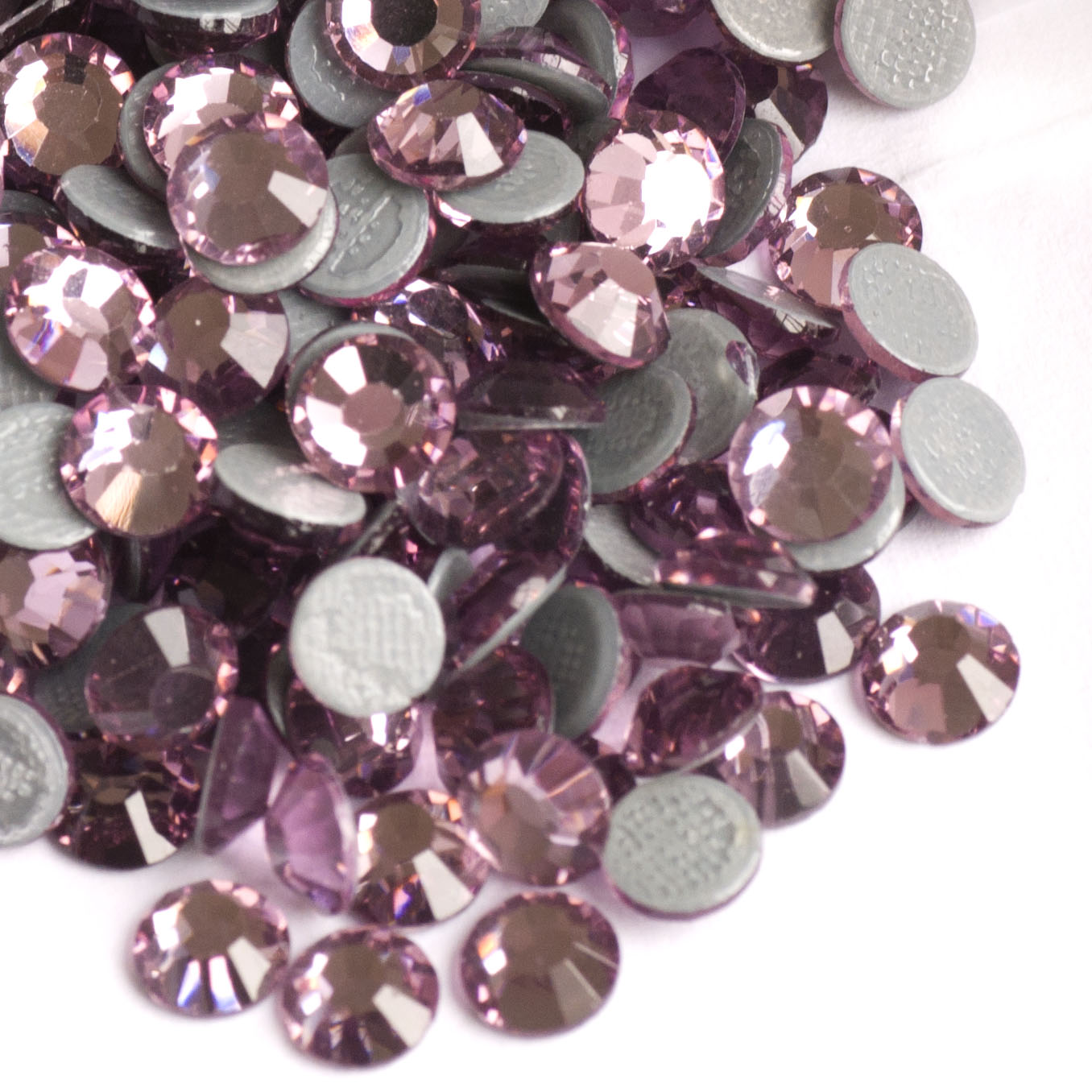 2058HF Light Amethyst All Size Strass Hot Fix Rhinestones for Garment FlatBack Crystal Stone Упрыгожванні з каменя