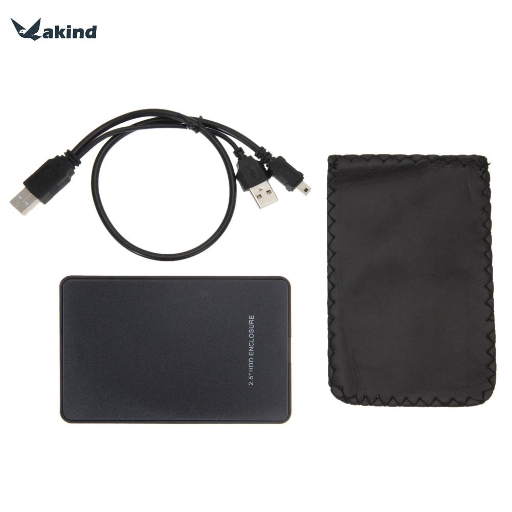 Portable 2.5 inch External Enclosure for Hard Drive Disk USB 2.0 SATA HDD Case Support 2TB Hdd Hard Drive High Quality ugreen hdd enclosure sata to usb 3 0 hdd case tool free for 7 9 5mm 2 5 inch sata ssd up to 6tb hard disk box external hdd case