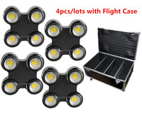 ( 4pcs/lots ) Outdoor 400W COB blinder light with Flight Case Waterproof 4 eyes COB LED Audience Linear Dimmer stage light