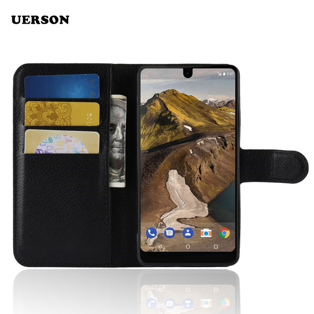 new arrival 74785 97f9d Fundas For Essential Phone PH 1 Case Flip Luxury PU Leather Silicon Wallet  Phone Case Coque For Essential PH 1 PH 1 Back Cover-in Flip Cases from ...