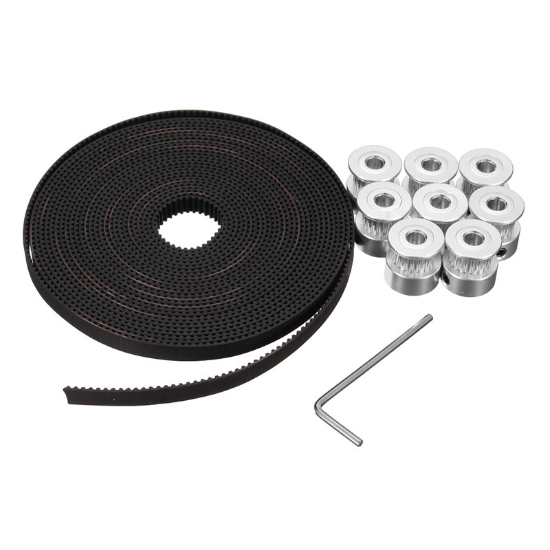 3D Printer CNC 8 x GT2 20T Timing Pulleys 5M GT2 Timing Belt For Reprap Prusa