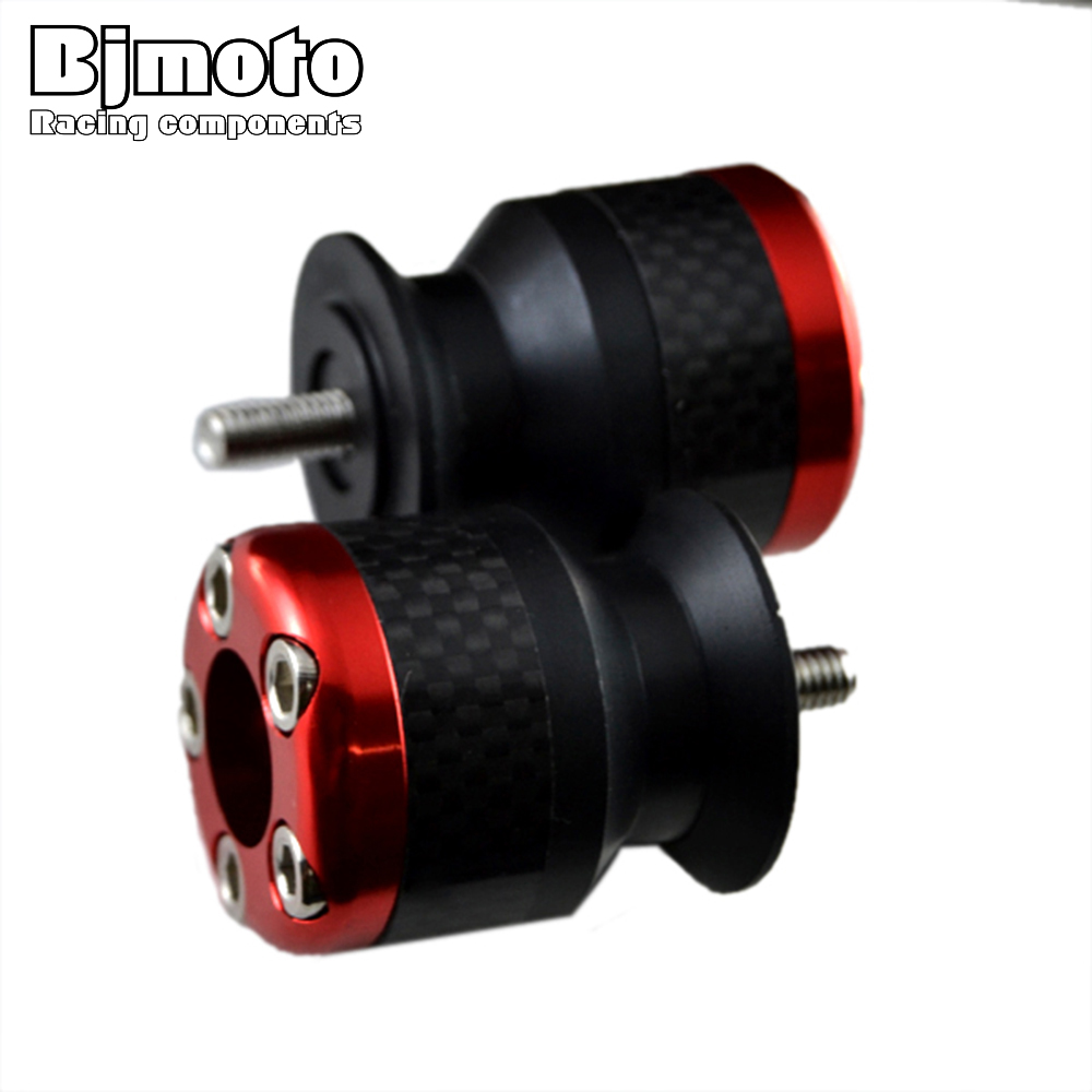BJMOTO Red Color 6mm Aluminum motorcycle carbon fiber Swingarm Spools slider fits for Yamaha YZF R1 R6 R6S Free Shipping aluminum water cool flange fits 26 29cc qj zenoah rcmk cy gas engine for rc boat