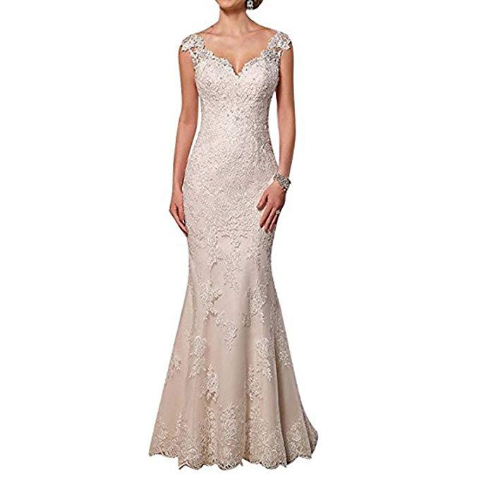 2019 Women's Sweetheart Neck Lace Mermaid Wedding Dresses Bridal Gowns Vestidos De Noiva