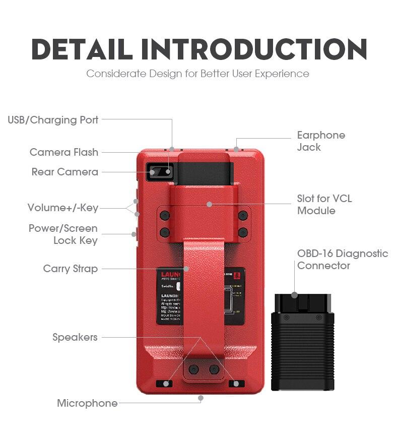 Image 3 - Авто инструмент диагностики Launch X431 Pros Mini с 6.8'' экран PC Поддержать Wi Fi/Bluetooth полные системы Бесплатное 2 год онлайн обновление-in Тестеры аккумуляторов from Автомобили и мотоциклы