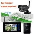 2.4 Г Беспроводной Передачи Surveilliance Системы Мониторинга Запись Видео-Телефон Двери 2 Способ Домофон С 0.3 Мега Пикселей Камера