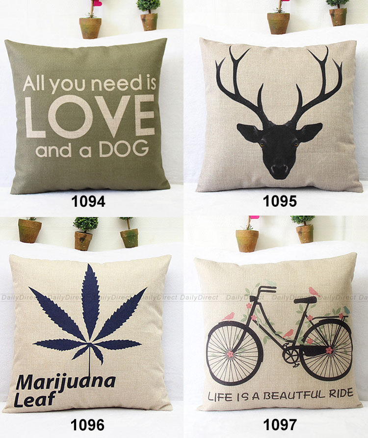 Aliexpress Buy Kinds Vintage Composite Linen Cushion Cover Enchanting Plastic Pillow Case Covers