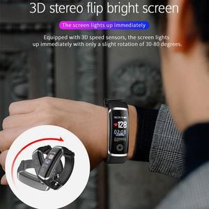 Image 5 - Lerbyee pulsera inteligente M4 con podómetro, monitor, seguidor Fitness del sueño y la presión sanguínea, para hombre y mujer, recordatorio de llamadas