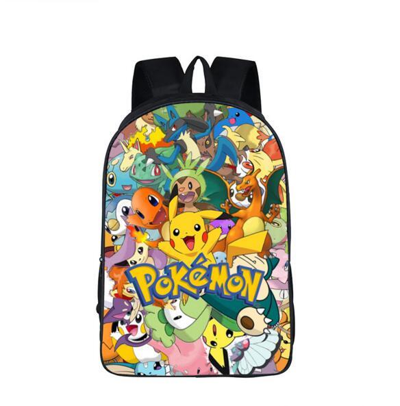Anime Pokemon School Backpack Teenage Boys Girls Casual Daypacks Pikachu Arceus Mew Charizard Cartoon Children School Bags Gift