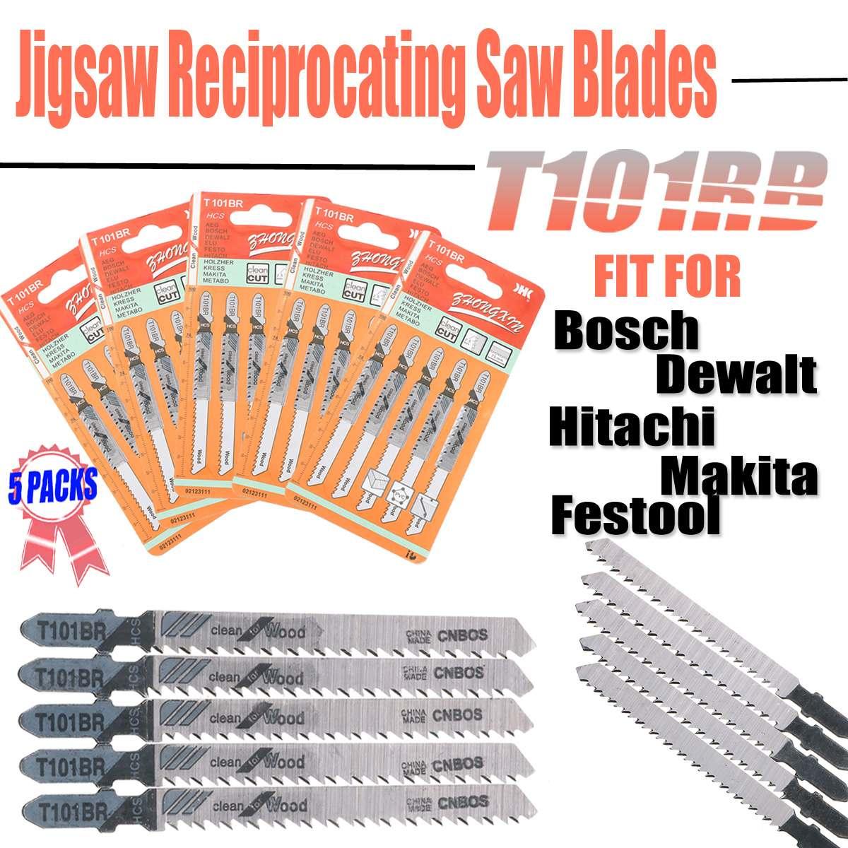 25PCS T101BR Jigsaw Reciprocating Saw Blades High Carbon Steel Jig Saw For DEWALT High Quality