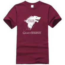 2017 New Fashion The North Remembers Blood Wolf T Shirt Men's Novelty Game of Thrones Tshirt High Quality Hipster Tee Tops(China)